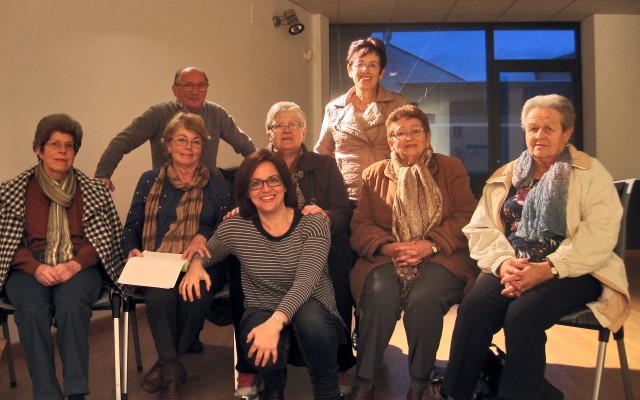 Teresa Álvarez con la Asociación de Pensionistas y Jubilados «Valdecarzana»